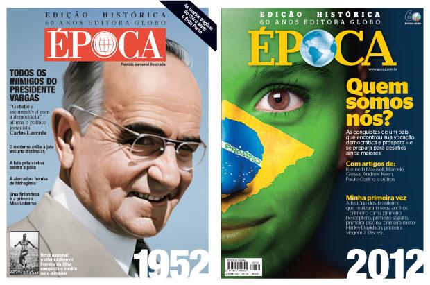 CAPA DUPLA Para confeccionar a edição com visual retrô, nossos jornalistas entraram no túnel do tempo, voltaram  ao distante ano de 1952 e contam como era o Brasil de então. Na outra edição, tudo o que mudou de lá para cá  (Foto: divulgação)