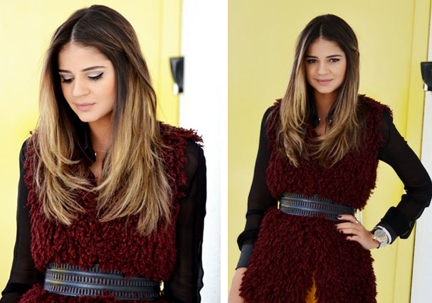 O cabelão bem cuidado da blogueira (Foto: Reprodução)