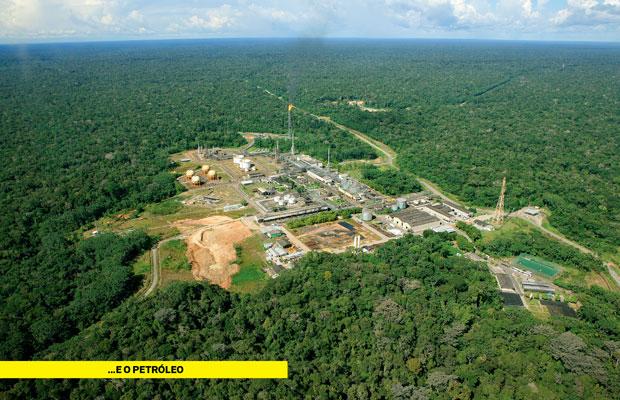 Esta é a Amazônia na bacia do Solimões, à beira do rio Urucu, onde 1,5 mil pessoas trabalham na maior base de exploração de petróleo e gás em terra firme da Petrobras. Oportunidade  ou ameaça? (Foto: Fernando Martinho)
