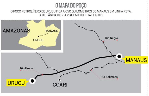 O mapa do poço (Foto: Reprodução)