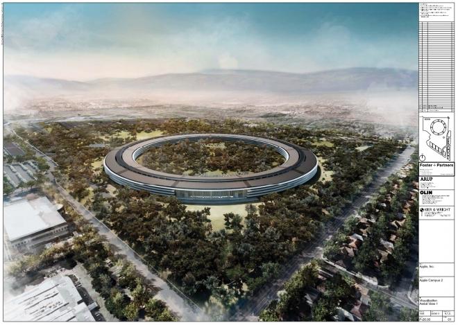 Imagens revelam detalhes da nova sede da Apple em Cupertino, Califórnia (EUA) (Foto: Reprodução Internet)