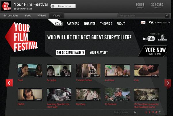 Festival de curtas do YouTube (Foto: Reprodução Internet)