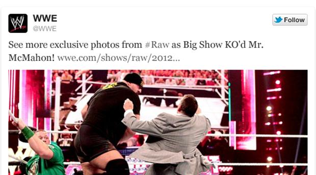 Foto da WWE no Twitter (Foto: Divulgação / Twitter)