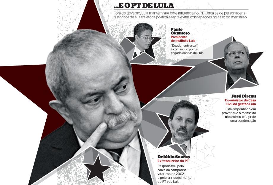 ... e o PT de Lula (Foto: Eraldo Peres/AP, Alan Marques/Folhapress (2), Antonio Gauderio/Folhapress e Marques/Folhapress )