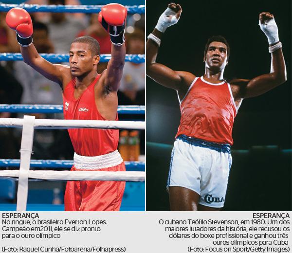 ESPERANÇA No ringue, o brasileiro Everton Lopes. Campeão em 2011, ele se diz pronto para o ouro olímpico  (Foto: Raquel Cunha/Fotoarena/Folhapress)