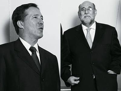Dança das cadeiras na OGX: sai Paulo Mendonça (dir.) e entra Luiz Eduardo Carneiro (esq.) (Foto: Pedro Meyer - Época NEGÓCIOS)