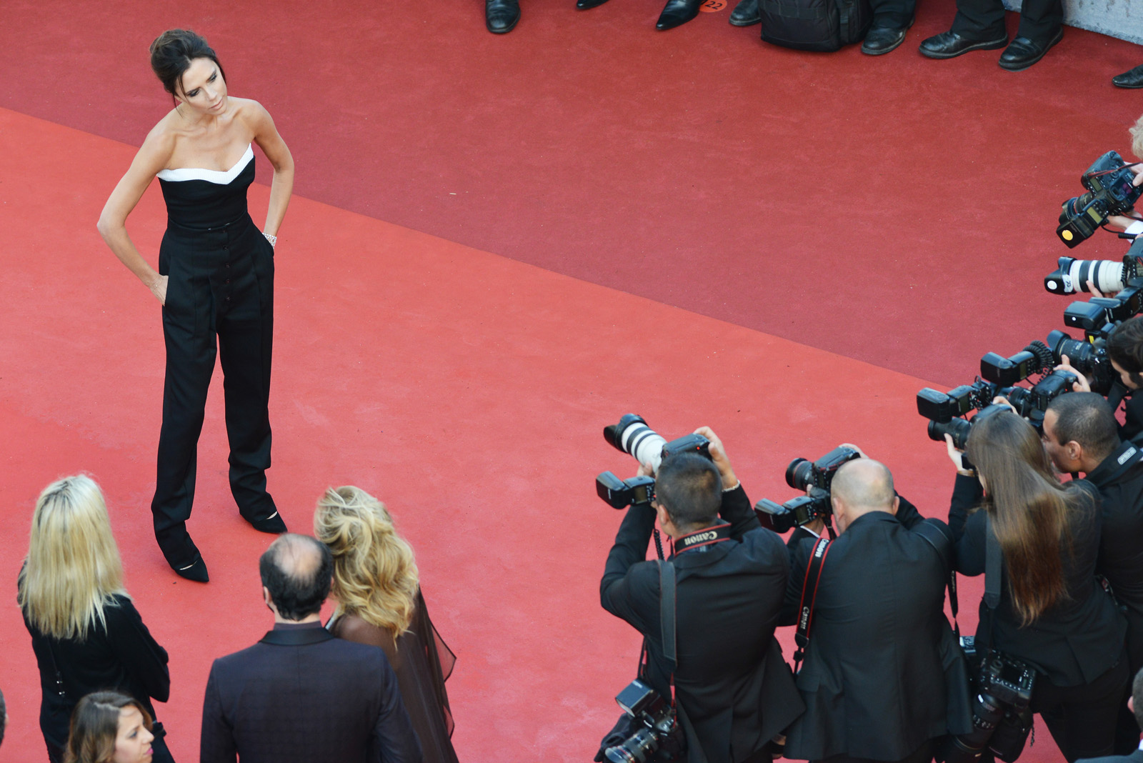 """CANNES, FRANCE - MAY 11: Victoria Beckham attends the """"Cafe Society"""" premiere and the Opening Night Gala during the 69th annual Cannes Film Festival at the Palais des Festivals on May 11, 2016 in Cannes, France.  (Photo by Pool/Getty Images)"""