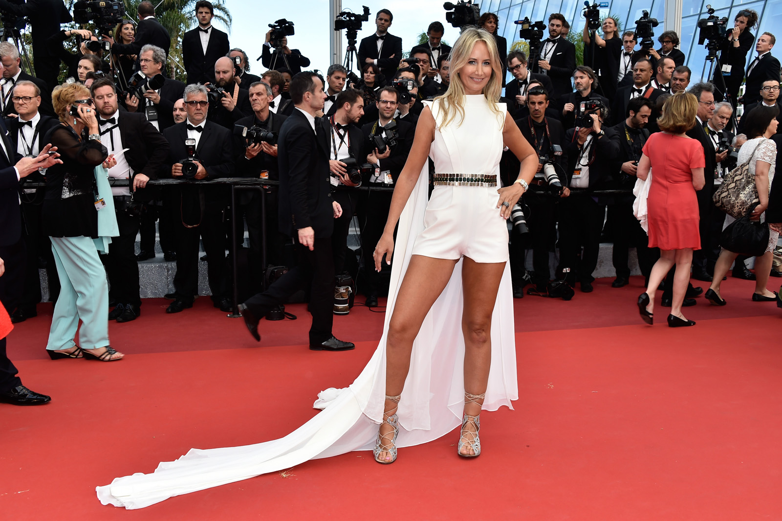 """CANNES, FRANCE - MAY 12:  Lady Victoria Hervey attends the """"Money Monster"""" premiere during the 69th annual Cannes Film Festival at the Palais des Festivals on May 12, 2016 in Cannes, France.  (Photo by Pascal Le Segretain/Getty Images)"""