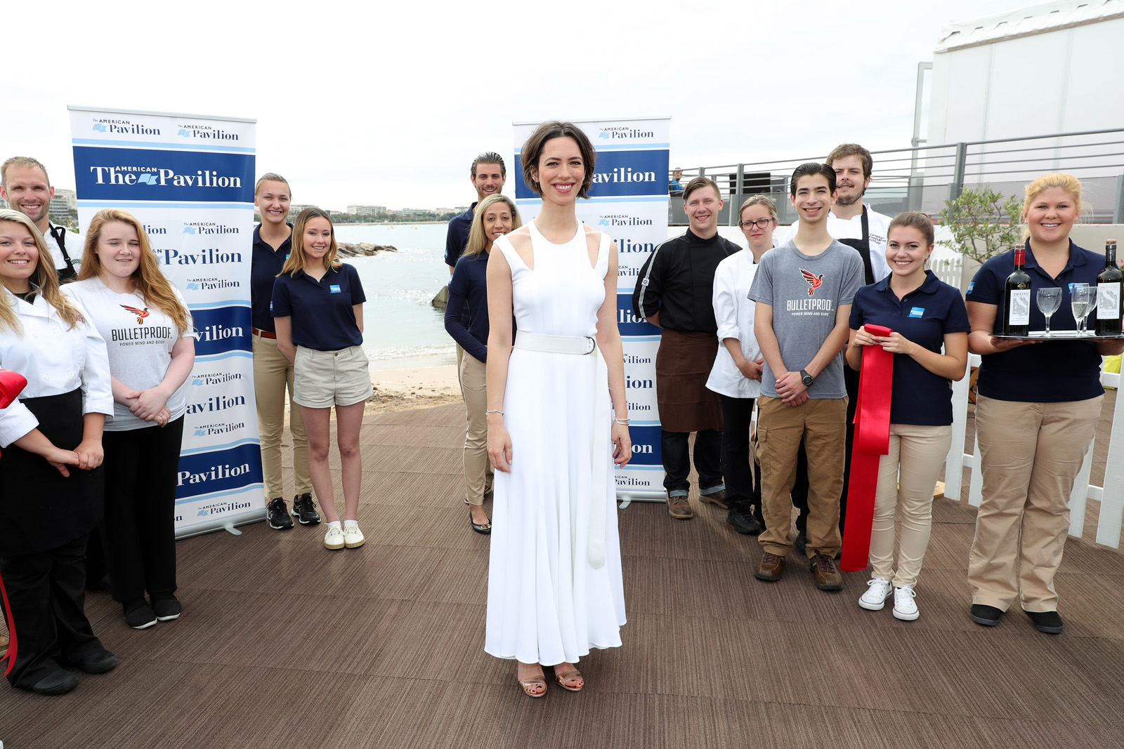 CANNES, FRANCE - MAY 13:  Rebecca Hall attends the ribbon cutting to open the American Pavilion during the 69th annual Cannes Film Festival on May 13, 2016 in Cannes, France.  (Photo by Neilson Barnard/Getty Images)