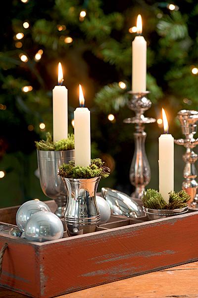 Decoraç u00e3o de Natalà luz de velas Casa e Jardim Galeria de fotos -> Decoração De Natal Jardim